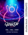 live music party design... | Shutterstock .eps vector #1033986493
