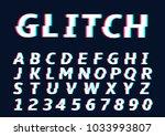 glitch alphabet letters....   Shutterstock .eps vector #1033993807