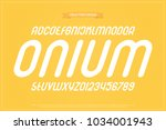 set of italic style alphabet... | Shutterstock .eps vector #1034001943