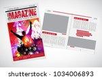 music brochure layout | Shutterstock .eps vector #1034006893