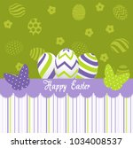 easter day greeting card | Shutterstock .eps vector #1034008537