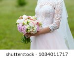 a delicate and very beautiful... | Shutterstock . vector #1034011717