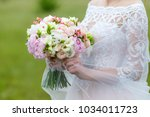 a delicate and very beautiful... | Shutterstock . vector #1034011723