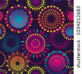 abstract seamless round pattern ...   Shutterstock .eps vector #1034012683