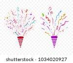 vector confetti. festive...   Shutterstock .eps vector #1034020927