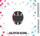 racing helmet  glitch effect... | Shutterstock .eps vector #1034028103