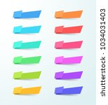 vector abstract blank shape 12... | Shutterstock .eps vector #1034031403