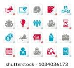 stylized business management... | Shutterstock .eps vector #1034036173
