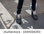 paris january 24  2017. street...   Shutterstock . vector #1034036353