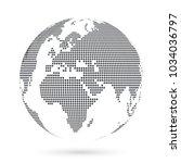 globe shape  world map created... | Shutterstock .eps vector #1034036797