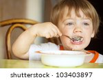 Two Year Child Himself Eats...