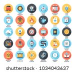 abstract vector set of colorful ... | Shutterstock .eps vector #1034043637
