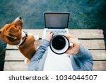 pov of urban millennial or... | Shutterstock . vector #1034044507