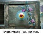 drawer of wooden dresser... | Shutterstock . vector #1034056087