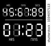 digital clock. calculator...   Shutterstock .eps vector #1034057113