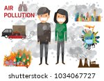 environmental pollution... | Shutterstock .eps vector #1034067727