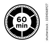 set of timers   sixty minutes ... | Shutterstock .eps vector #1034068927