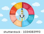 vector infographic circle with... | Shutterstock .eps vector #1034083993