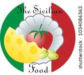 logo for restaurants with... | Shutterstock .eps vector #1034086363