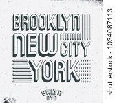 brooklyn new york city t shirt...   Shutterstock .eps vector #1034087113