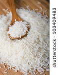 basmati rice with spoon   Shutterstock . vector #103409483