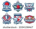 baseball badge design set | Shutterstock .eps vector #1034138467