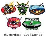 billiard badge design set | Shutterstock .eps vector #1034138473