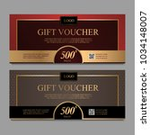 Voucher Template With Gold And...