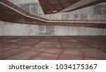 empty smooth abstract room... | Shutterstock . vector #1034175367