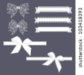 lace ribbons set | Shutterstock .eps vector #103418393