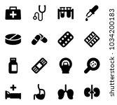 solid vector icon set   doctor... | Shutterstock .eps vector #1034200183