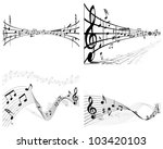 musical designs sets with... | Shutterstock .eps vector #103420103
