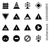 solid vector icon set   sign... | Shutterstock .eps vector #1034204893