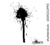 ink splatter elements on white...   Shutterstock .eps vector #1034212993