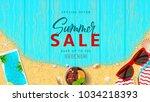 summer sale beautiful web... | Shutterstock .eps vector #1034218393