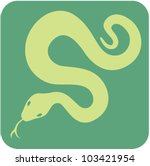 Creative Anaconda Icon - stock photo