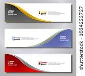 banner background modern... | Shutterstock .eps vector #1034223727