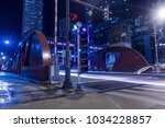 chicago downtown  city street...   Shutterstock . vector #1034228857