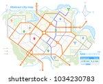 generic map of an imaginary... | Shutterstock .eps vector #1034230783