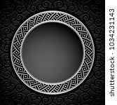 vintage round frame with metal... | Shutterstock .eps vector #1034231143