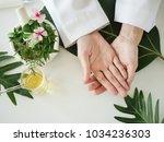 the scientist dermatologist... | Shutterstock . vector #1034236303