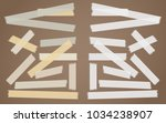 brown  gray  white adhesive ... | Shutterstock .eps vector #1034238907