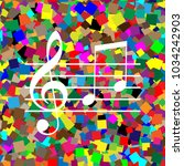 music violin clef sign. g clef... | Shutterstock .eps vector #1034242903
