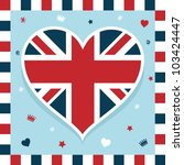 united kingdom decoration with... | Shutterstock .eps vector #103424447
