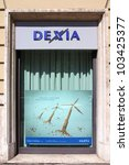 Small photo of ROME - APRIL 9: Dexia branch on April 9, 2012 in Rome, Italy. Dexia was on the verge of collapse in late 2011 during the European financial crisis.