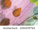 leaves and shadow on shading... | Shutterstock . vector #1034259763