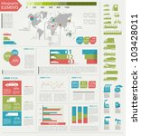 Detail infographic vector illustration. Map of world, icon of car and factory, and Information Graphics. Easy to edit. - stock vector