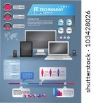 Modern infographics set and icons IT tehnology. World Map and Information Graphics - stock vector