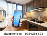 smart home system on mobile... | Shutterstock . vector #1034286523
