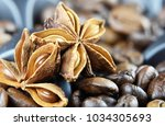 aroma of coffee and flavorings | Shutterstock . vector #1034305693